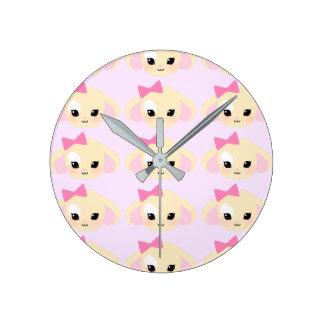 sugarparade Usagi-chan Lavender Wall Clock