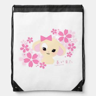 sugarparade Usagi-chan Sakura Drawstring Backpack