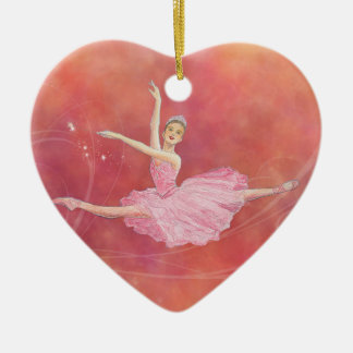 Sugarplum Fairy Heart Ornament