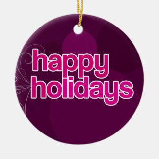 Sugarplum Happy Holidays Keepsake Ornament
