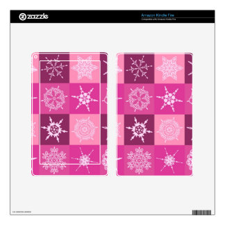 Sugarplum Snowflake Collection Designer Skin For Kindle Fire