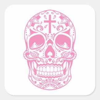 SugarSkull Pink-01.png Square Sticker