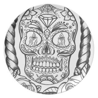 Sugarskull Tattoo Art By Sweetpieart Plate