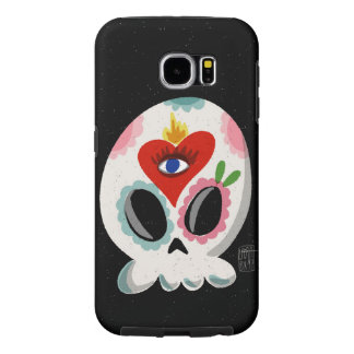 SugarSkull Third Eye color Samsung Galaxy S6 Case