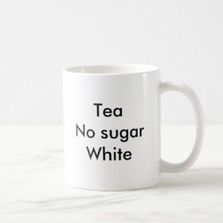 sugarWhite de TeaNo Taza Básica Blanca