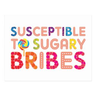 Sugary Bribes Postcard