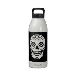 Sugary Skull with Flower Eyes Drinking Bottles