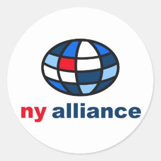 Sugerencia del logotipo - Ny Alliance Pegatina Redonda