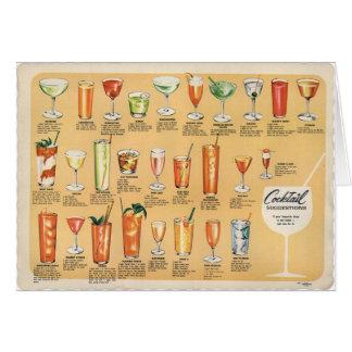 Sugerencias del cóctel, tarjeta de felicitación
