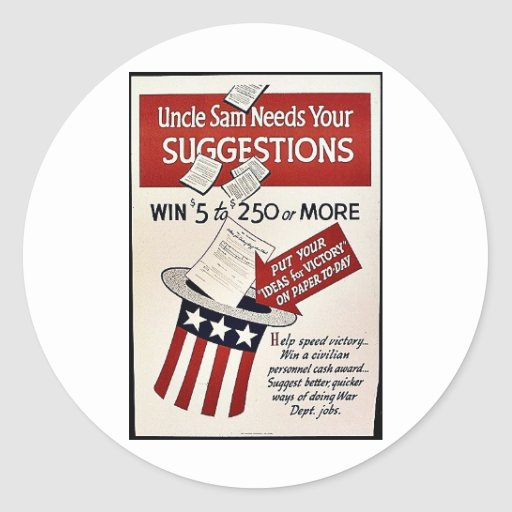 Suggestions Classic Round Sticker
