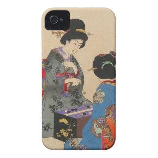 Sugoroku game by Toyohara Chikanobu Case-Mate iPhone 4 Cases