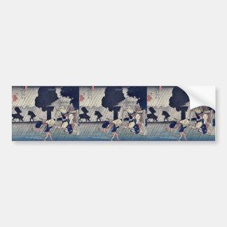 Suhara por Ando, Hiroshige Ukiyoe Pegatina Para Auto
