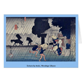 Suhara por Ando, Hiroshige Ukiyoe Tarjeta De Felicitación