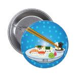 Suhsi Platter Pinback Buttons