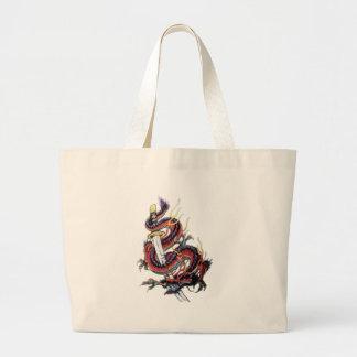 Sui Riu Japanese Dragon Katana Jumbo Tote Bag