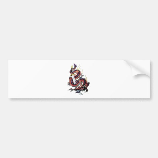 Sui Riu Japanese Dragon Katana Bumper Sticker