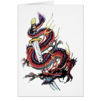 Sui Riu Japanese Dragon Katana Card