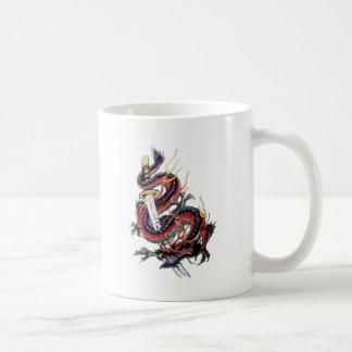 Sui Riu Japanese Dragon Katana Classic White Coffee Mug