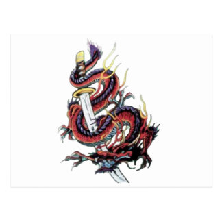 Sui Riu Japanese Dragon Katana Post Card