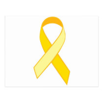 Suice Prevention - Yellow Ribbon Postcard