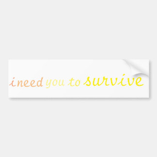 Suicide Awareness Bumper Sticker