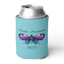 Suicide Awareness Butterfly Semicolon Can Cooler