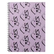 Suicide Awareness Butterfly Semicolon Heart Notebook