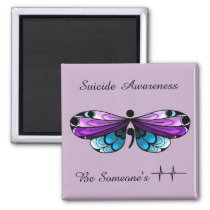 Suicide Awareness Butterfly Semicolon Magnet