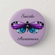 Suicide Awareness Butterfly Semicolon Pin