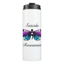 Suicide Awareness Butterfly Semicolon Thermal Tumbler