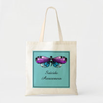 Suicide Awareness Butterfly Semicolon Tote Bag