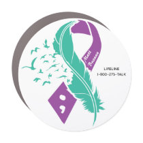 Suicide Awareness Custom Name Car Magnet