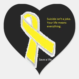Suicide Awareness Heart Stickers