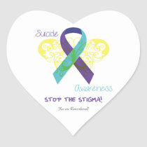 Suicide Awareness Heart Stickers