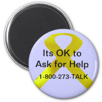 Suicide Awareness Help Magnet