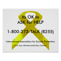 Suicide Awareness Help Poster