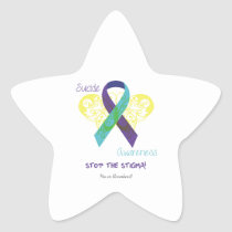 Suicide Awareness Star Stickers
