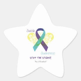 Suicide Awareness Star Stickers