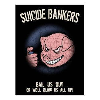 Suicide Bankers Postcard