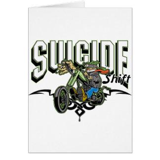 Suicide Biker Greeting Card