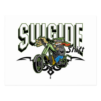 Suicide Biker Post Cards