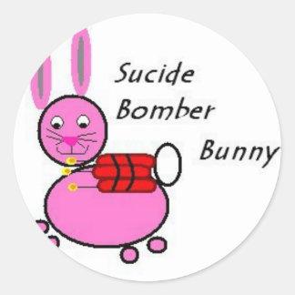 suicide bunny classic round sticker