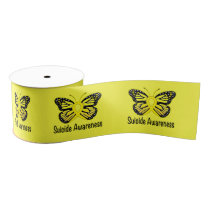 Suicide Butterfly Awareness Ribbon 3""