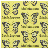 Suicide Butterfly Awareness Ribbon Fabric