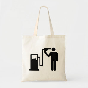 Suicide by petrol tote bag
