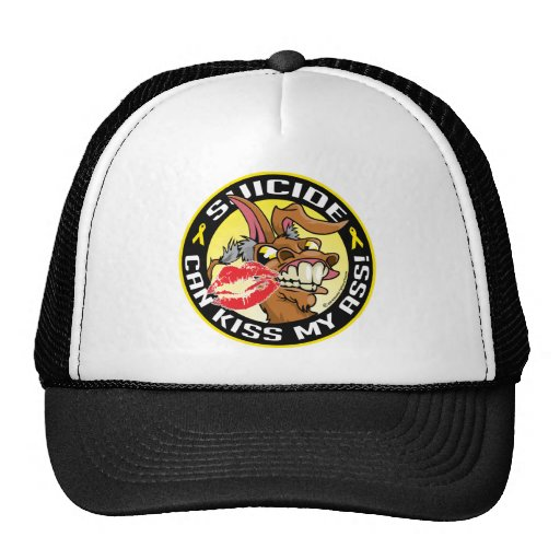 Suicide Can Kiss My Ass Trucker Hat