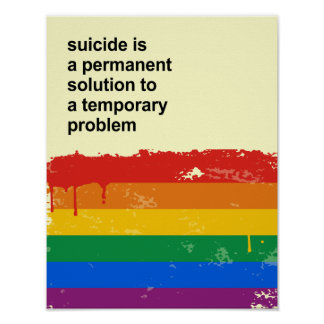 Suicide is a permanent solution to a temporary pro poster