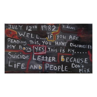 SUICIDE LETTER POSTER