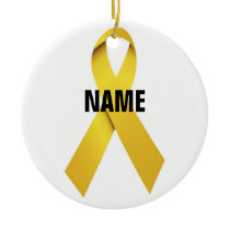 Suicide Memorial Ribbon Ceramic Ornament
