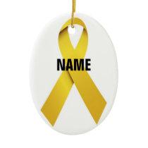 Suicide Memorial Ribbon Ceramic Ornament